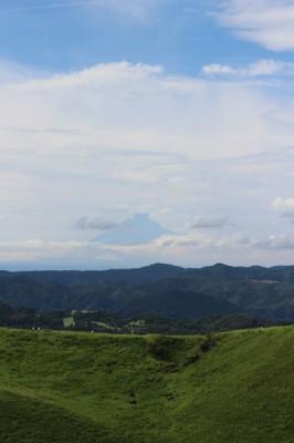 大室山から富士山がみえました。