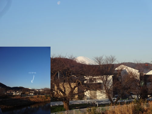 低くて小さい富士山